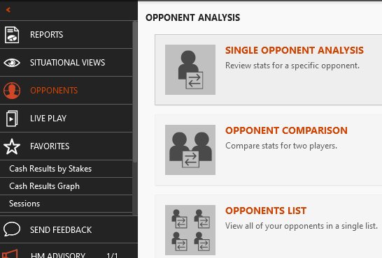 Describing the three types of Opponent Reports