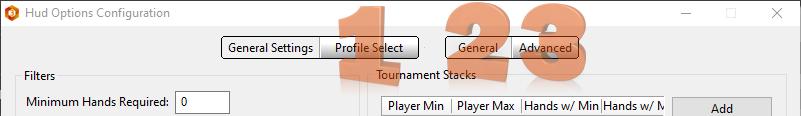 HUD Options main user inteface