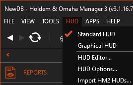 HM3's HUD menu in the user interface.