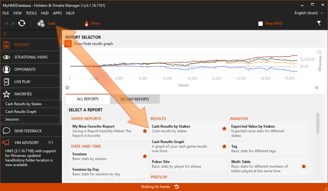 Holdem Manager Report User Interface