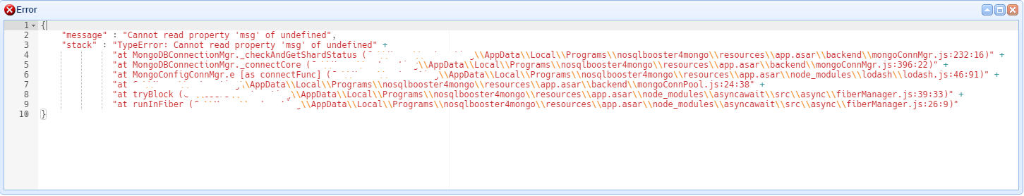 NoSQL Booster cannot connect to MongoDB on Windows